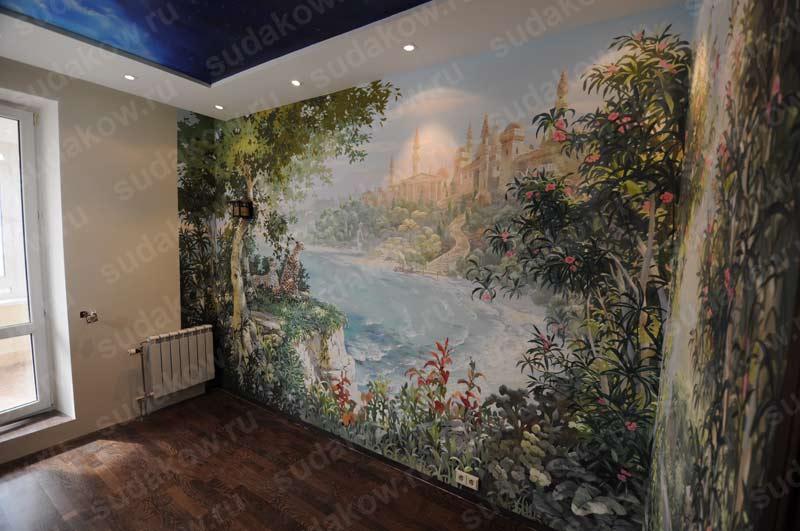 Какие краски лучше для росписи стен материал краски для стен vray